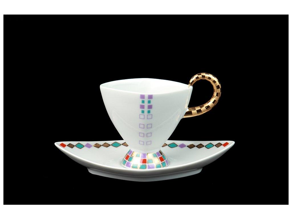 Kávový šálek s podšálkem - Excalibur 801 | Luxusní porcelán - Atelier JM Lesov
