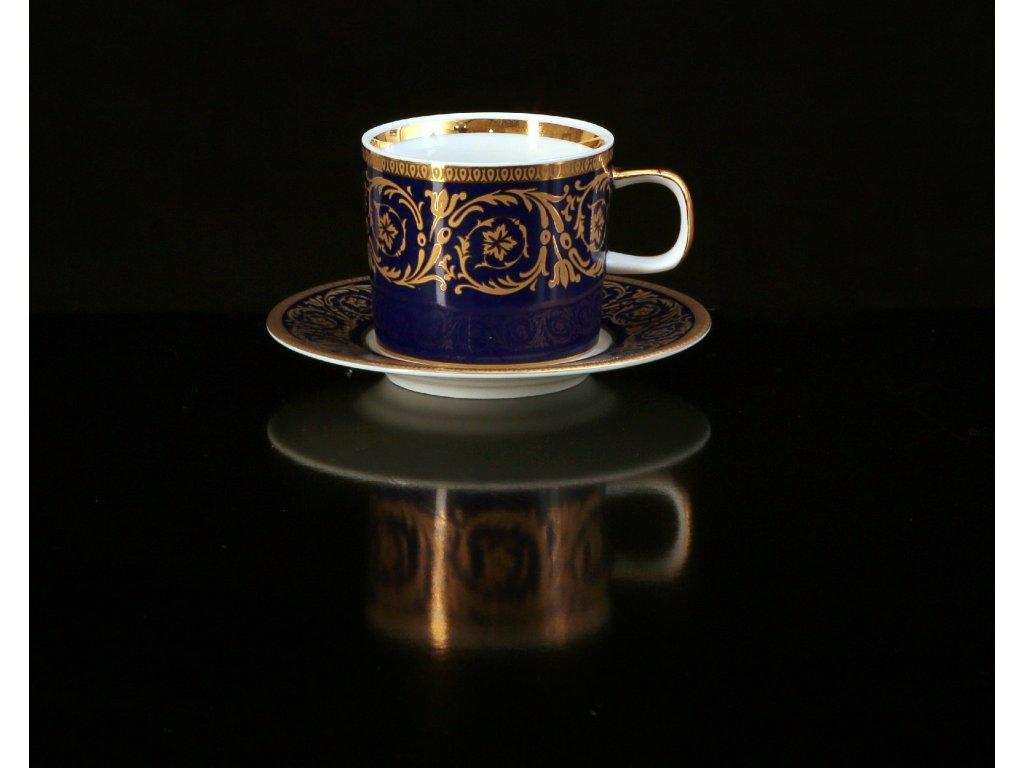 kávový šálek, podšálek, kávové soupravy porcelán, kávový set, kávový servis, souprava na kávu, hrnky na kávu, kávové šálky, porcelán, karlovarský porcelán, český porcelán, Atelier Lesov, Imperial, kobalt