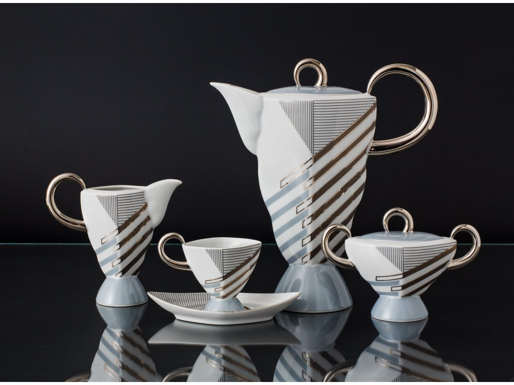 Porcelánová kávová souprava - Excalibur 800 | Luxusní porcelán - Atelier JM Lesov