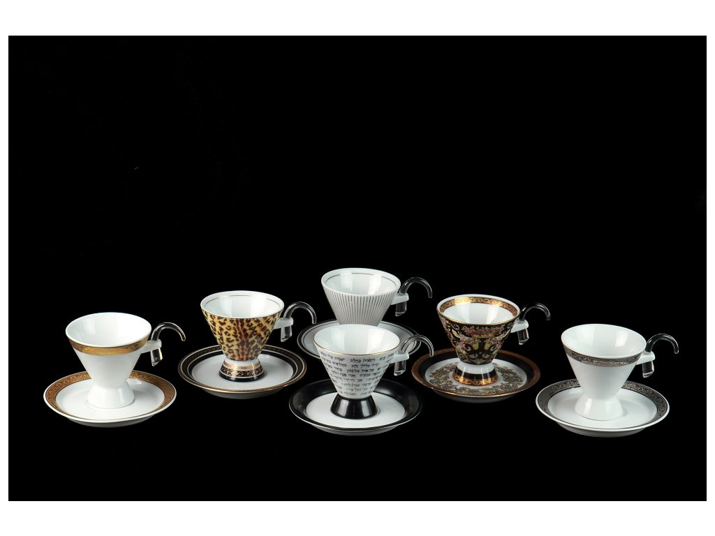 čajový a kávový šálek, podšálek, kávové a čajové soupravy porcelán, kávový set, kávový servis, souprava na kávu, hrnky na kávu, kávové šálky, porcelán, karlovarský porcelán, český porcelán, Atelier Lesov, Besto of Lesov
