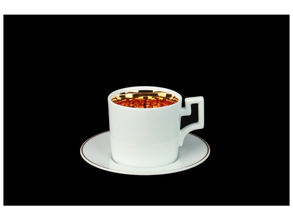 Kávový šálek s podšálkem - Best of Lesov 2 | Luxusní porcelán - Atelier JM Lesov