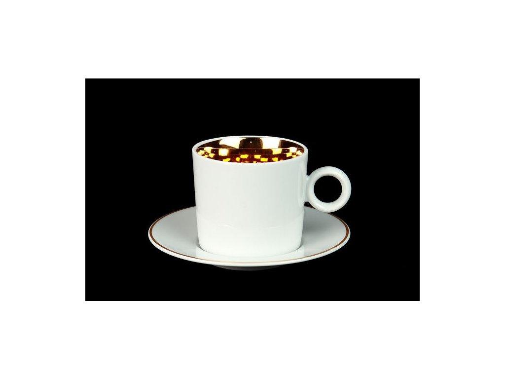 Kávový šálek s podšálkem - Best of Lesov 4 | Luxusní porcelán - Atelier JM Lesov