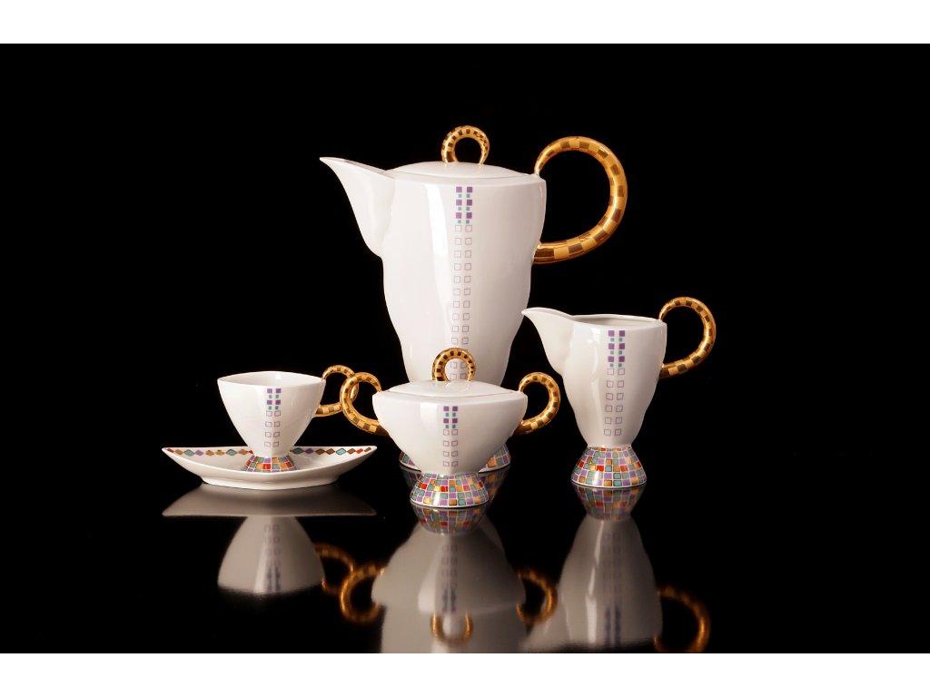 Porcelánová kávová souprava - Excalibur 801 | Luxusní porcelán - Atelier JM Lesov