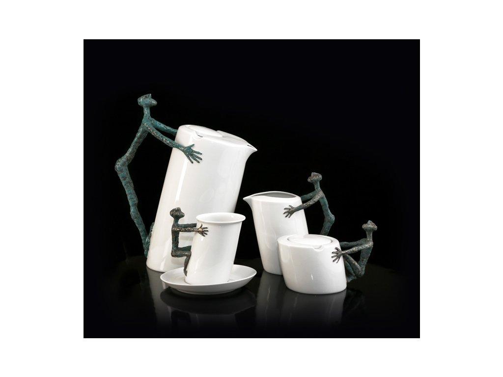 Porcelánová kávová souprava - Sisyfos | Luxusní porcelán - Atelier JM Lesov