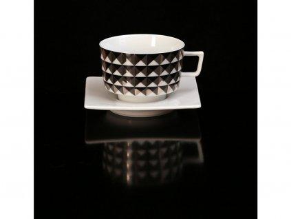 čajový šálek, podšálek, čajové soupravy porcelán, čajový set, čajový servis, souprava na čaj, hrnky na čaj, čajové šálky, porcelán, karlovarský porcelán, český porcelán, Atelier Lesov, Polygon