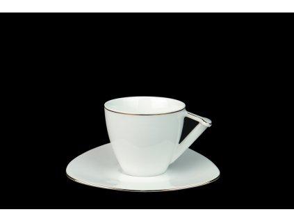 kávový šálek, podšálek, kávové soupravy porcelán, kávový set, kávový servis, souprava na kávu, hrnky na kávu, kávové šálky, porcelán, karlovarský porcelán, český porcelán, Atelier Lesov, Delta