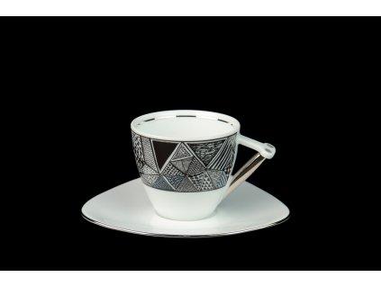 Kávový šálek s podšálkem - Delta 705 | Luxusní porcelán - Atelier JM Lesov