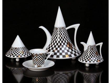 Porcelánová kávová souprava - Obelisk 953 | Luxusní porcelán - Atelier JM Lesov