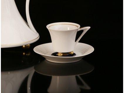Kávový šálek s podšálkem - Obelisk 952 | Luxusní porcelán - Atelier JM Lesov
