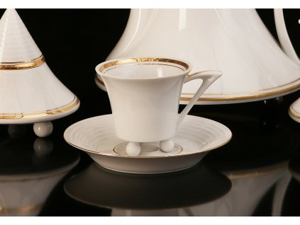 kávový šálek, podšálek, kávové soupravy porcelán, kávový set, kávový servis, souprava na kávu, hrnky na kávu, kávové šálky, porcelán, karlovarský porcelán, český porcelán, Atelier Lesov, obelisk