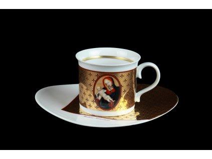 Šálek s podšálkem MADONY -luxusní šálek, podšálek, šálek na čaj, šálek na kávu, hrnky na kávu, hrnky na čaj, madony, porcelánový šálek, kávové šálky, čajové šálky, luxusní hrnky, exkluzivní porcelán, porcelán, karlovarský porcelán, český porcelán, Atelier Lesov, Madona Mostecká, Madona Svatovítská, Madona Veverská, Madona Vyšehradská, Madona Zbraslavská, Madona z Kamenného Újezda
