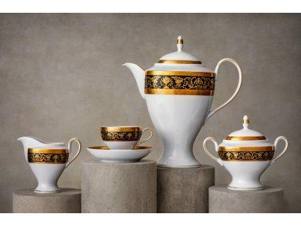porcelánový servis, president, čajová a kávová souprava, autorské soupravy, čajový a kávový set, čajový a kávový servis, hrnky na čaj a kávu, podšálek, čajové a kávové šálky, karlovarský porcelán, český porcelán, atelier lesov