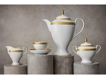 Porcelánový servis prezidentů - 198 Au | Luxusní porcelán - Atelier JM Lesov