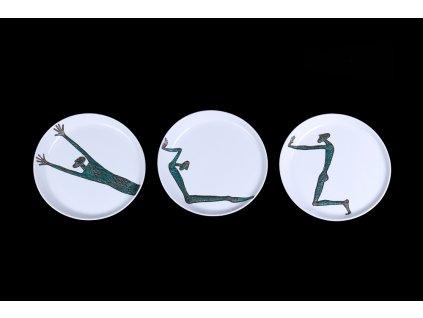 Talíř Sisyfos - tři motivy | Luxusní porcelán - Atelier JM Lesov