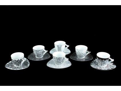 Šálek s podšálkem - SHOGI - více motivů | Luxusní porcelán - Atelier JM Lesov