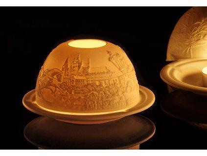 litofánie, reliéfní lampička, originální lampička, karlovarský porcelán, český porcelán, porcelán, atelier lesov