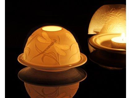 litofánie, reliéfní lampička, originální lampička,karlovarský porcelán, český porcelán, porcelán, atelier lesov