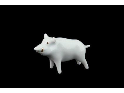 porcelánové figurky,divočák Arnošt, prase divoké, karlovarský porcelán, český porcelán, porcelán, Atelier Lesov, porcelánový divočák, prasátko z porcelánu