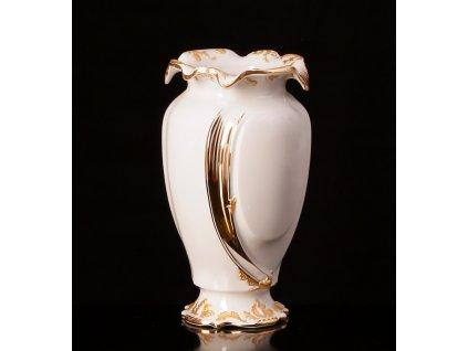 váza, porcelánová váza, dekorativní váza, Thun dekorační váza, zlato, leštěné zlato, vázy eshop, váza na květiny, karlovarský porcelán, český porcelán, cesky porcelan, porcelán, porcelán prodej, Atelier Lesov