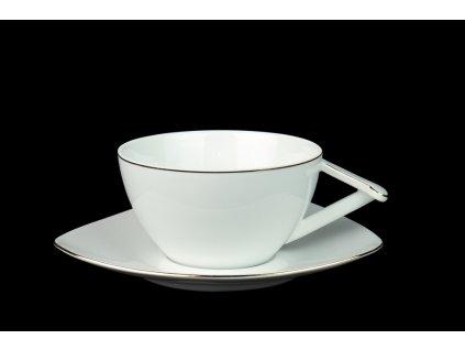 Delta, čajový šálek, podšálek, čajové soupravy porcelán, čajový set, čajový servis, souprava na čaj, hrnky na čaj, čajové šálky, porcelán, karlovarský porcelán, český porcelán, atelier lesov