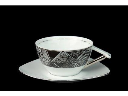 čajový šálek, podšálek, čajové soupravy porcelán, čajový set, čajový servis, souprava na čaj, hrnky na čaj, čajové šálky, porcelán, karlovarský porcelán, český porcelán, Atelier Lesov, Delta