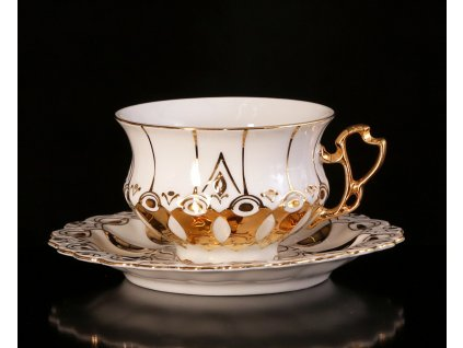 Čajový šálek s podšálkem - Elizabeth 103 | Luxusní porcelán - Atelier JM Lesov