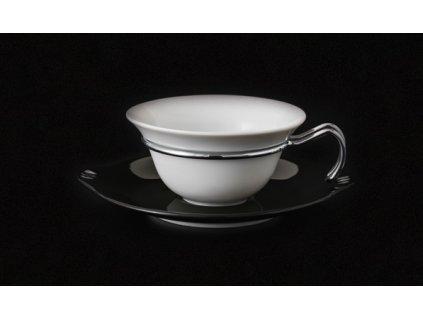 Čajový šálek s podšálkem - Kapka 390 | Luxusní porcelán - Atelier JM Lesov
