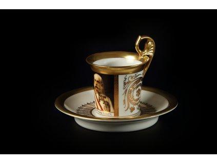 Kávový šálek s podšálkem - Vídeňské šálky 1231 | Luxusní porcelán - Atelier JM Lesov