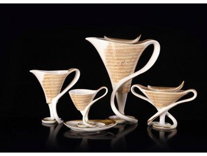 Porcelánová kávová souprava - Antonín Dvořák | Luxusní porcelán - Atelier JM Lesov