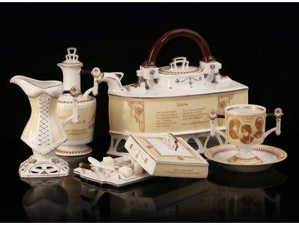 Porcelánová kávová souprava - Jára Cimrman | Luxusní porcelán - Atelier JM Lesov