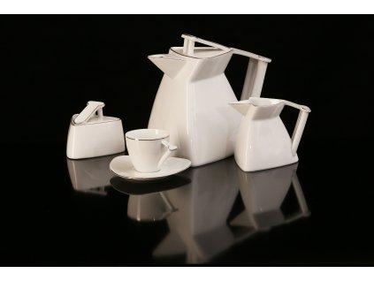 Porcelánová čajová souprava - Delta Uni | Luxusní porcelán - Atelier JM Lesov