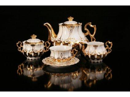 Porcelánová čajová souprava - Elizabeth 103 | Luxusní porcelán - Atelier JM Lesov
