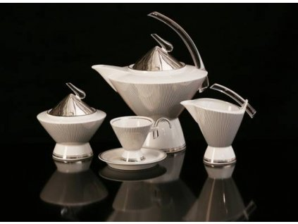 Porcelánová kávová souprava - Eva 604 | Luxusní porcelán - Atelier JM Lesov