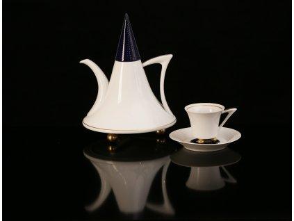 Porcelánová kávová souprava - Obelisk 952 | Luxusní porcelán - Atelier JM Lesov