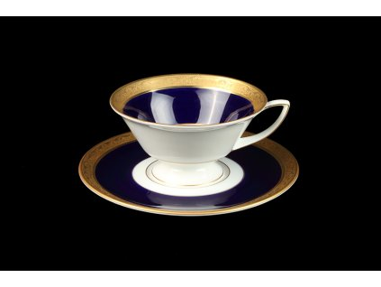 Čajový šálek s podšálkem - Downton Alžběta 370 | Luxusní porcelán - Atelier JM Lesov