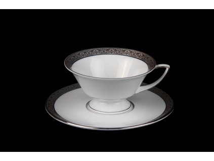Čajový šálek s podšálkem - Downton Winston 372 | Luxusní porcelán - Atelier JM Lesov