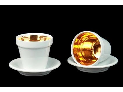Koflík s podšálkem - Kuppi | Luxusní porcelán - Atelier JM Lesov