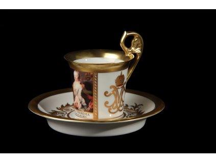 Kávový šálek s podšálkem - Vídeňské šálky 1234 | Luxusní porcelán - Atelier JM Lesov