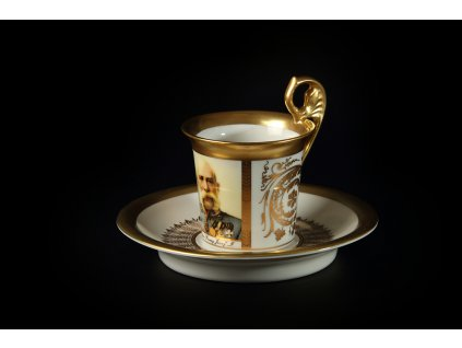 Kávový šálek s podšálkem - Vídeňské šálky 1232 | Luxusní porcelán - Atelier JM Lesov
