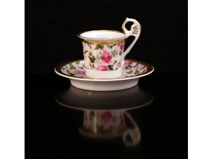Kávový šálek s podšálkem - Vídeňské šálky 121 | Luxusní porcelán - Atelier JM Lesov