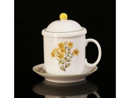 hrnek na bylinkový čaj, hrnek na bylinky, hrnek na sypaný čaj, hrnky na čaj, porcelánové hrnky, čajové hrnky, čajové hrnky se sítkem, hrnek,karlovarský porcelán, český porcelán, porcelán, atelier lesov