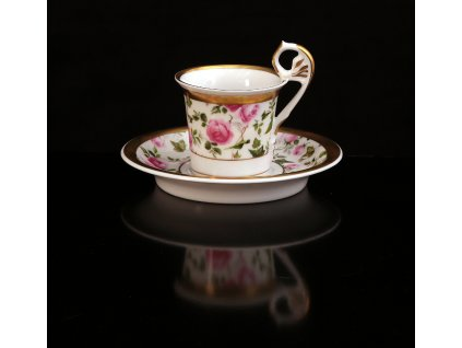 Kávový šálek s podšálkem - Vídeňské šálky 120 | Luxusní porcelán - Atelier JM Lesov