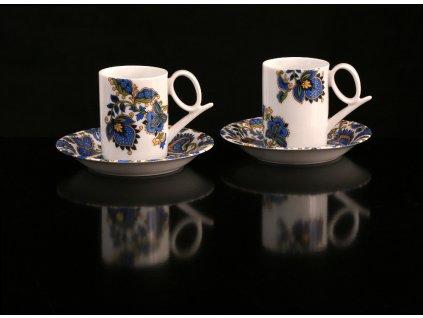 Kávový šálek s podšálkem - Yoko 117cp | Luxusní porcelán - Atelier JM Lesov