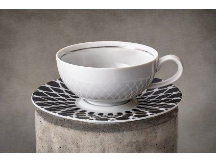 čajový šálek, podšálek, čajové soupravy porcelán, čajový set, čajový servis, souprava na čaj, hrnky na čaj, čajové šálky, porcelán, karlovarský porcelán, český porcelán, atelier lesov, galaxie