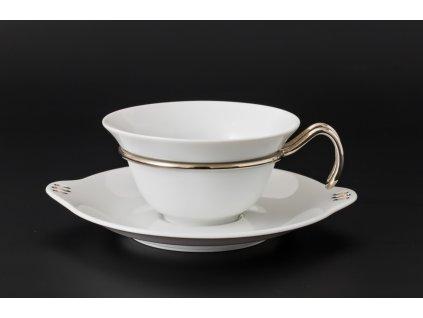 Čajový šálek s podšálkem - Kapka 391 | Luxusní porcelán - Atelier JM Lesov