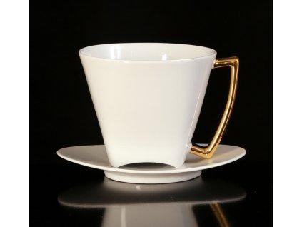 Čajový šálek s podšálkem - WO-MAN 150 | Luxusní porcelán - Atelier JM Lesov