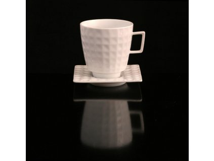 Snídaňový šálek s podšálkem - Polygon 153 | Luxusní porcelán - Atelier JM Lesov