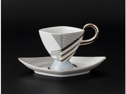 Kávový šálek s podšálkem - Excalibur 800 | Luxusní porcelán - Atelier JM Lesov