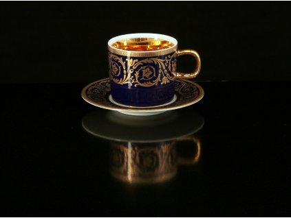 Kávový šálek s podšálkem - Imperial Gold | Luxusní porcelán - Atelier JM Lesov