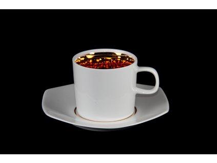 Kávový šálek s podšálkem - Best of Lesov 3 | Luxusní porcelán - Atelier JM Lesov